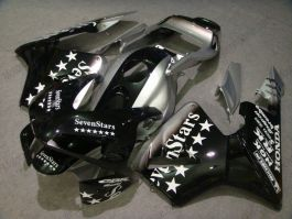 Honda CBR 600RR F5 2003-2004 Injection ABS verkleidung - SevenStars - Schwarz/Silber