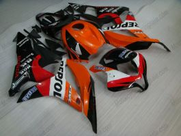 Honda CBR 600RR F5 2007-2008 Injection ABS verkleidung - Repsol  - Orange/Schwarz