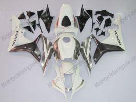 Honda CBR 600RR F5 2007-2008 Injection ABS verkleidung - Factory Style - Weiß/Grau