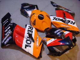 Honda CBR1000RR 2004-2005 Injection ABS verkleidung - Repsol - Orange/Rot/Schwarz
