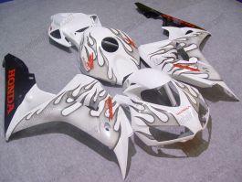 Honda CBR1000RR 2006-2007 Injection ABS verkleidung - Schwarz Flame - Weiß