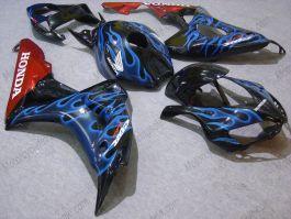 Honda CBR1000RR 2006-2007 Injection ABS verkleidung - Blau Flame - Schwarz/Orange