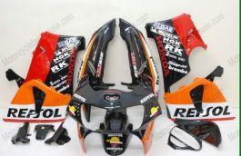 Honda CBR900RR 919 1998-1999 ABS verkleidung - Repsol - Orange/Rot/Schwarz