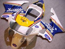 Honda CBR900RR 919 1998-1999 ABS verkleidung - Rothmans - Weiß/Gelb/Blau