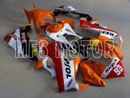 Honda CBR1000RR 2017-2019 Einspritz-ABS-Verkleidung - Repsol - Orange / Weiß
